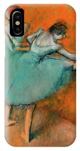 At Work iPhone Case - Ballerinas At The Bar by Edgar Degas