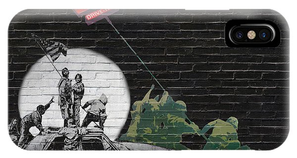 Pop Art iPhone Case - Banksy - The Tribute - New World Order by Serge Averbukh