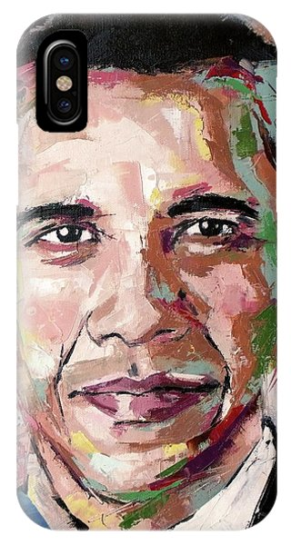 Barack Obama iPhone Case - Barack Obama by Richard Day