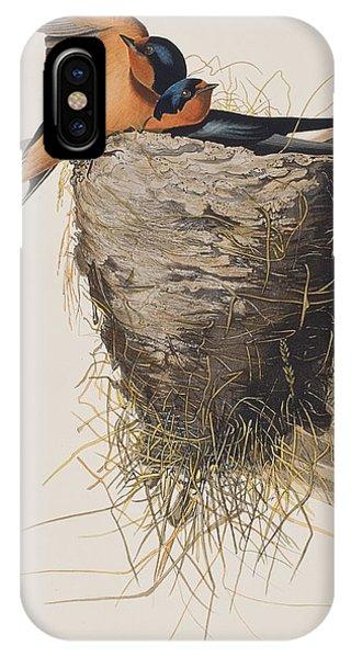 Audubon iPhone X Case - Barn Swallow by John James Audubon