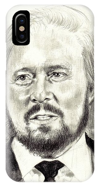 Graphite iPhone Case - Barry Gibb Portrait by Suzann Sines