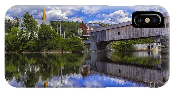 Bath Covered Bridge. IPhone Case