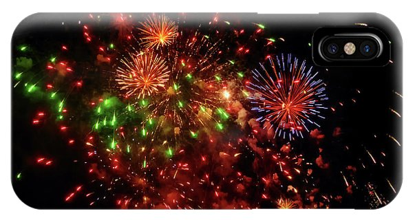 Beautiful Fireworks Against The Black Sky Of The New Year IPhone Case