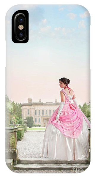 Beautiful Victorian Woman In The Garden IPhone Case