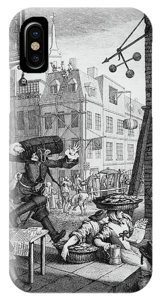 Pub iPhone Case -   Beer Street by William Hogarth