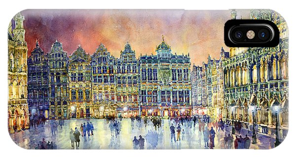 Cityscape iPhone Case - Belgium Brussel Grand Place Grote Markt by Yuriy Shevchuk