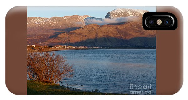 Ben Nevis From Corpach Phone Case by Phil Banks