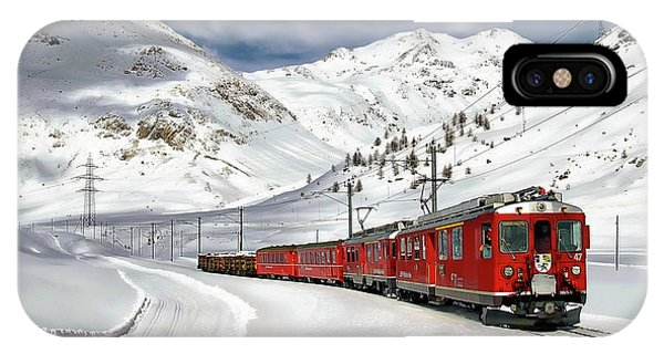 Bernina Winter Express IPhone Case