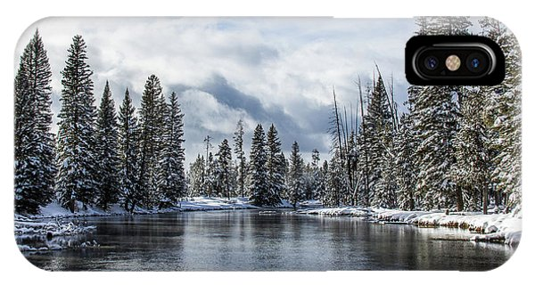 Big Springs In Winter Idaho Journey Landscape Photography By Kaylyn Franks IPhone Case