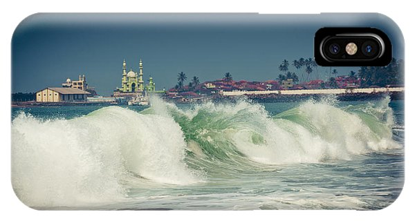 Big Wave On The Coast Of The Indian Ocean Kerala India IPhone Case