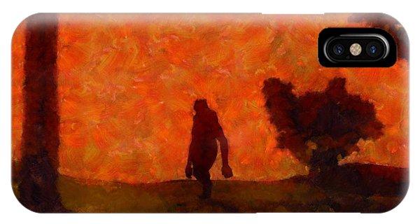 Strange iPhone Case - Bigfoot Alone by Esoterica Art Agency