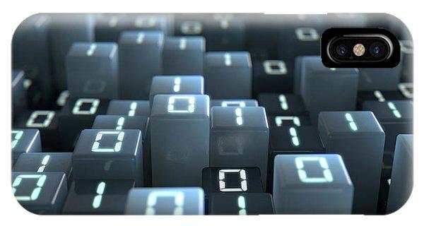 Binary Code Pixels IPhone Case