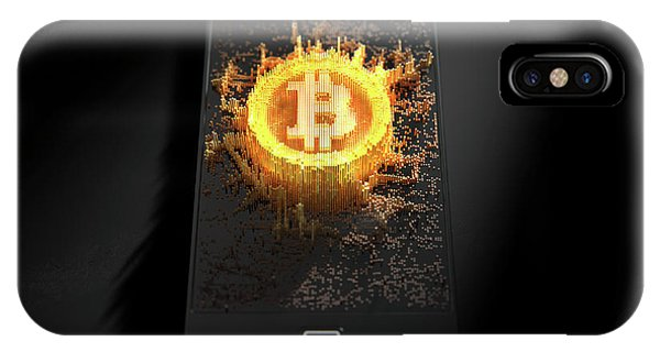 Virtual iPhone Case - Bitcoin Cloner Smartphone by Allan Swart