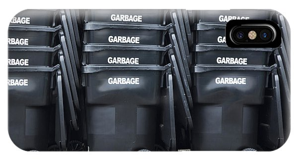 Black Garbage Bins Phone Case by Don Mason