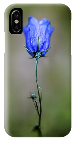 Bell iPhone Case - Blue Bell by Nailia Schwarz