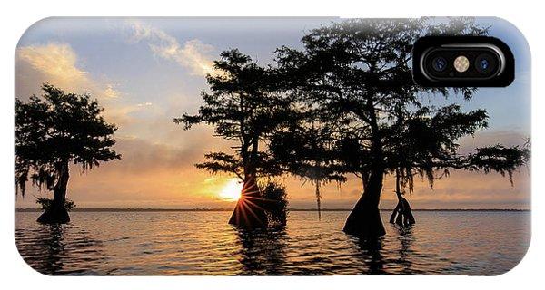 Blue Cypress Lake Morning IPhone Case