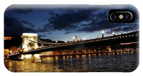 Blue Danube Sunset Budapest IPhone Case