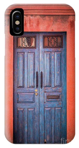 San Miguel iPhone Case - Blue Door by Inge Johnsson
