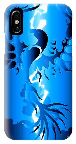 Fire Ball iPhone Case - Blue Phoenix by Robert Ball