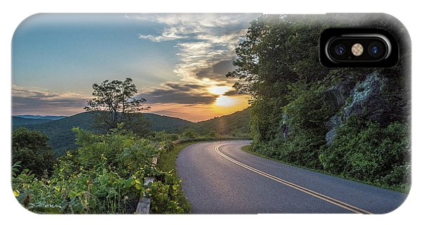 Blue Ridge Parkway Morning Sun IPhone Case