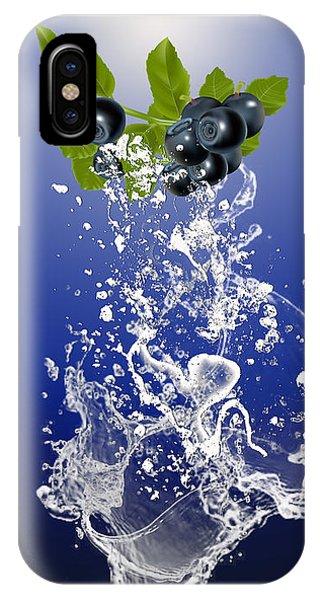 Blueberry Splash IPhone Case