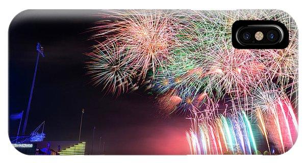 Ok iPhone Case - Boathouse Fireworks by Ricky Barnard