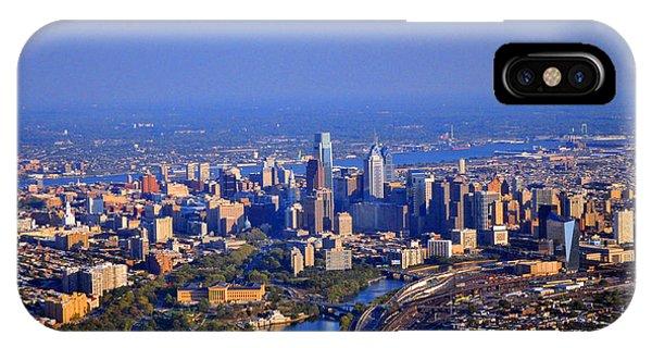 1 Boathouse Row Philadelphia Pa Skyline Aerial Photograph IPhone Case