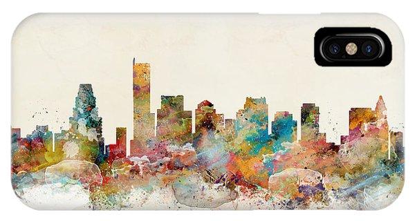 Massachusetts iPhone Case - Boston City Skyline by Bri Buckley
