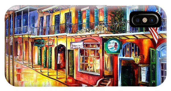 French Impressionism iPhone Case - Bourbon Street Red by Diane Millsap