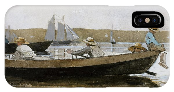 Boys In A Dory, 1873  IPhone Case