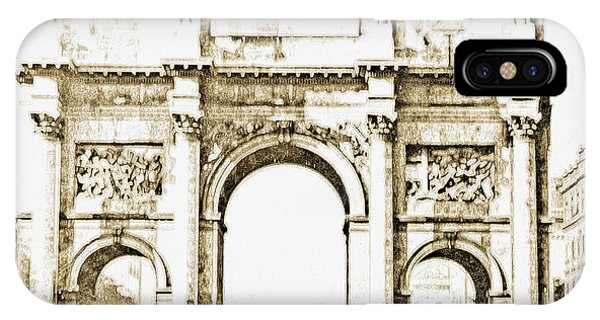 Brandenburg Gate, Berlin Germany, 1903, Vintage Image IPhone Case