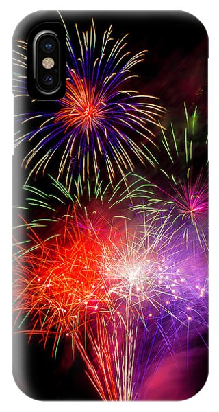 Bright Fireworks IPhone Case