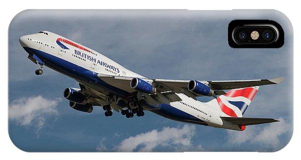 Airline iPhone Case - British Airways Boeing 747-436 by Smart Aviation