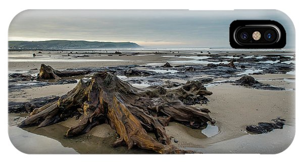 Bronze Age Sunken Forest At Borth On The West Wales Coast Uk IPhone Case