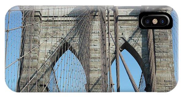 IPhone Case featuring the photograph Brooklyn Bridge by Wilko Van de Kamp