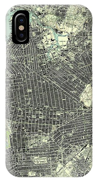 New Trend iPhone Case - Brooklyn New York 1947 Old Map by Drawspots Illustrations
