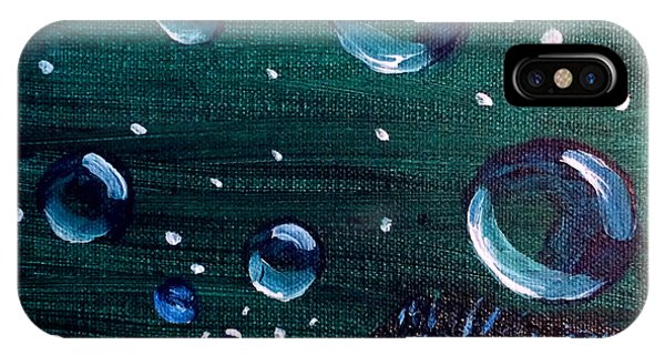 IPhone Case featuring the painting Bubble Fish Underwater by Janelle Dey