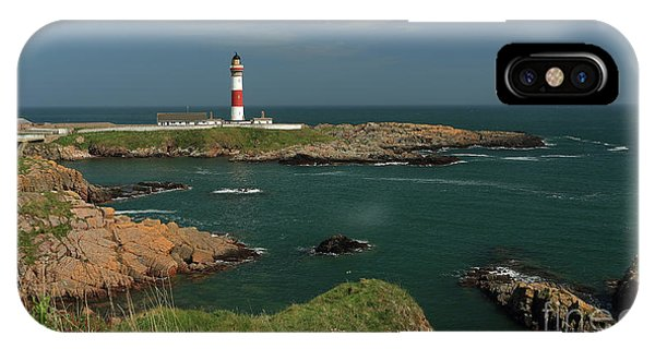 Buchan Ness Lighthouse And The North Sea IPhone Case