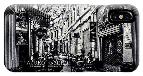 Monochrome Bucharest  Macca - Vilacrosse Passage IPhone Case