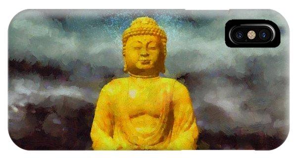 Strange iPhone Case - Buddha by Esoterica Art Agency