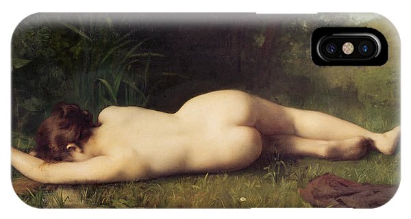 Damage iPhone Case - Byblis Turning Into A Spring by Jean-Jacques Henner