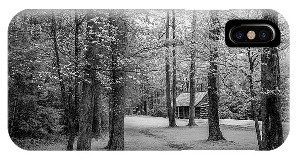 Beauty In Nature iPhone Case - Cabin In Cades Cove by Jon Glaser