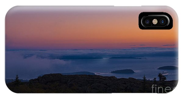 Cadillac Mountain Sunset.  IPhone Case