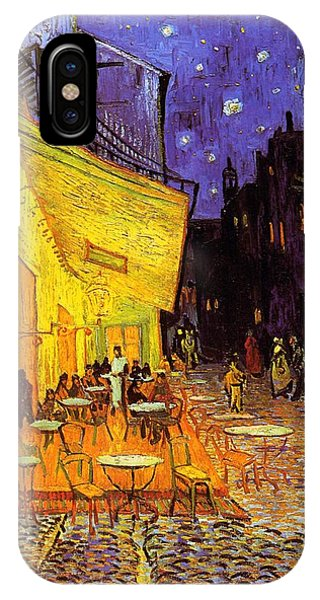IPhone Case featuring the painting Cafe Terrace At Night by Van Gogh