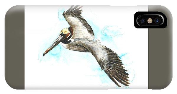 California Brown Pelican IPhone Case