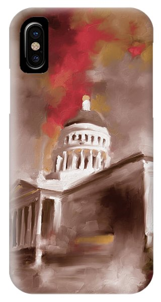 Capitol iPhone Case - California State Capitol Building 556 3 by Mawra Tahreem