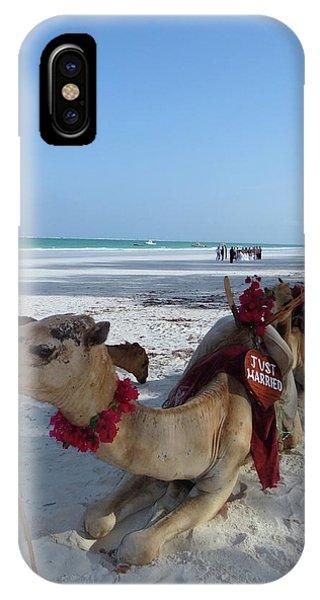 Exploramum iPhone Case - Camel On Beach Kenya Wedding by Exploramum Exploramum