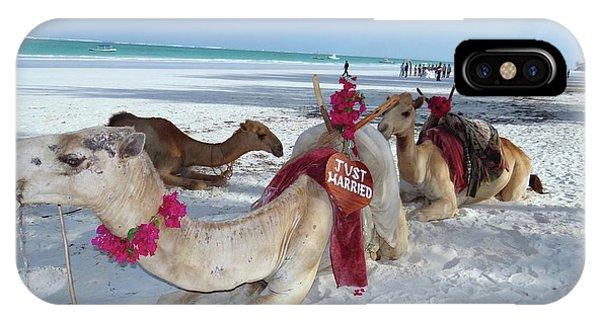 Exploramum iPhone Case - Camel On Beach Kenya Wedding4 by Exploramum Exploramum
