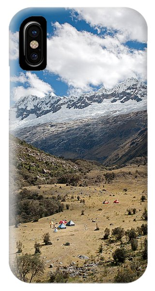 Camping In Huaripampa Valley IPhone Case