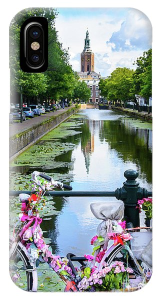 Holland iPhone Case - Canal And Decorated Bike In The Hague by RicardMN Photography